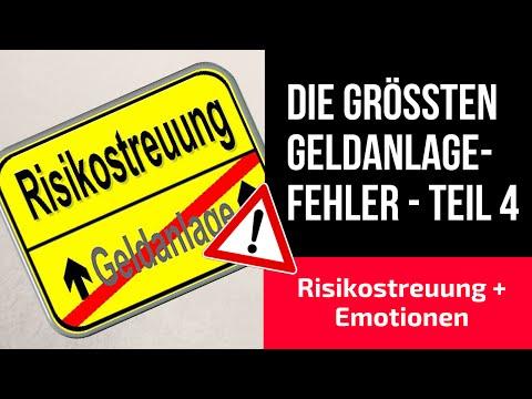 Geldanlage-Fehler – Teil 4: Risikostreuung + Emotionen!