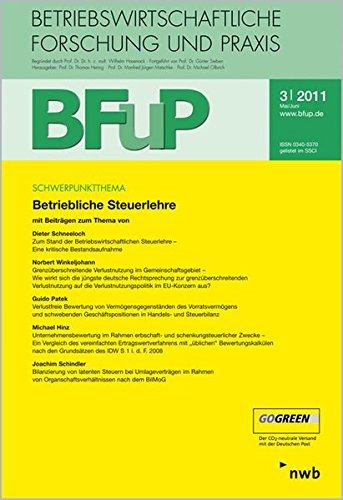 Betriebliche Steuerlehre: BFuP 3/2011